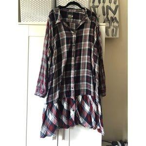 Flannel fall dress!
